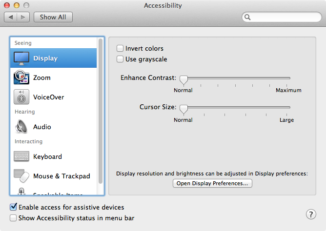 Accessibility API in Mac OS X 10.8 or earlier